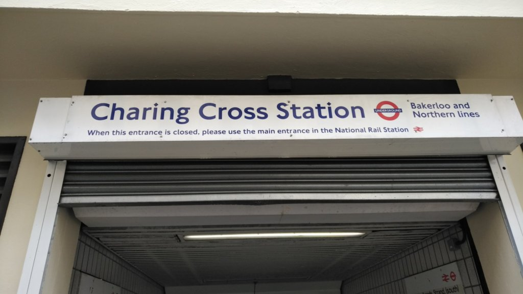 Underground entrance to Charing Cross Station