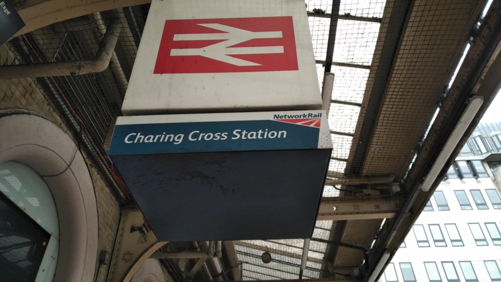 Cubic sign for Charing Cross Station