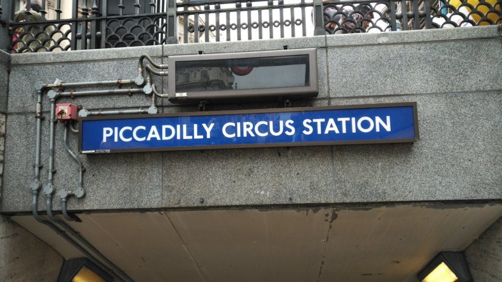 Underground entrance to Piccadilly Circus Station