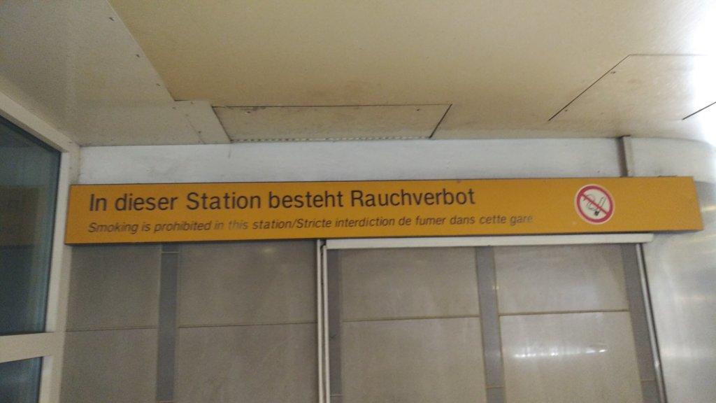 In dieser Station besteht Rauchverbot
