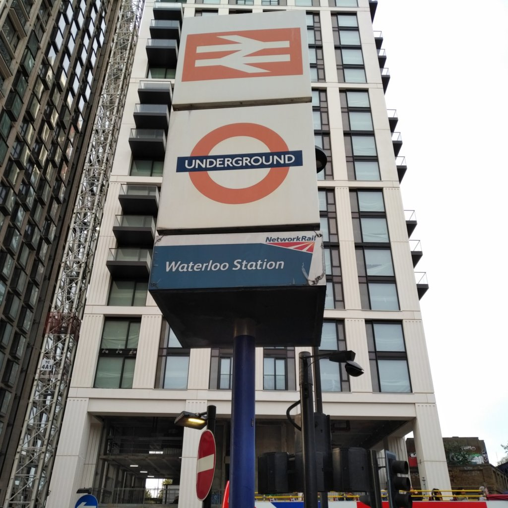 Cubic sign for Underground Waterloo Station