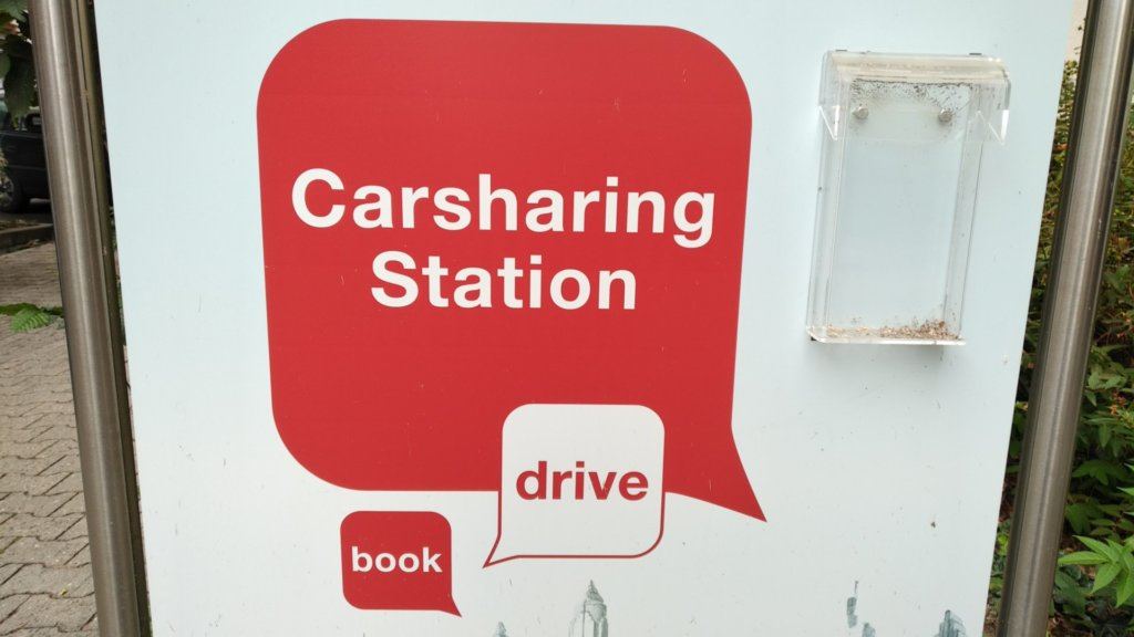 Carsharing Station large sign
