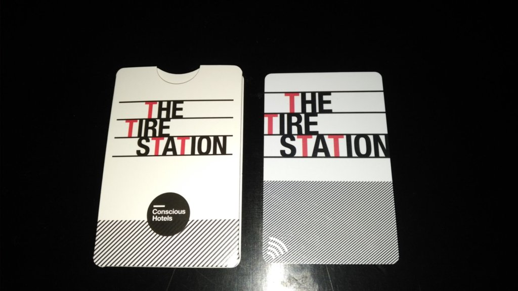 The Tire Station hotel room key